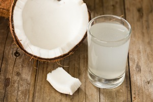coconut water for electrolyte replenishment!